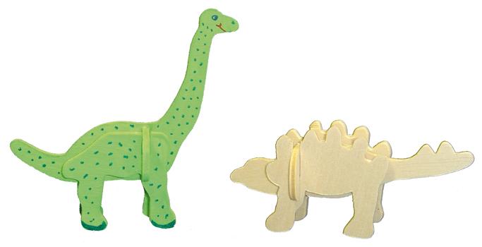 Kleiner Holz Dino Zum Selbstgestalten Zwergenträume