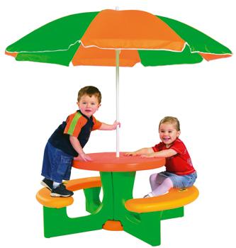 big picnic set mit sonnenschirm zwergentr ume. Black Bedroom Furniture Sets. Home Design Ideas