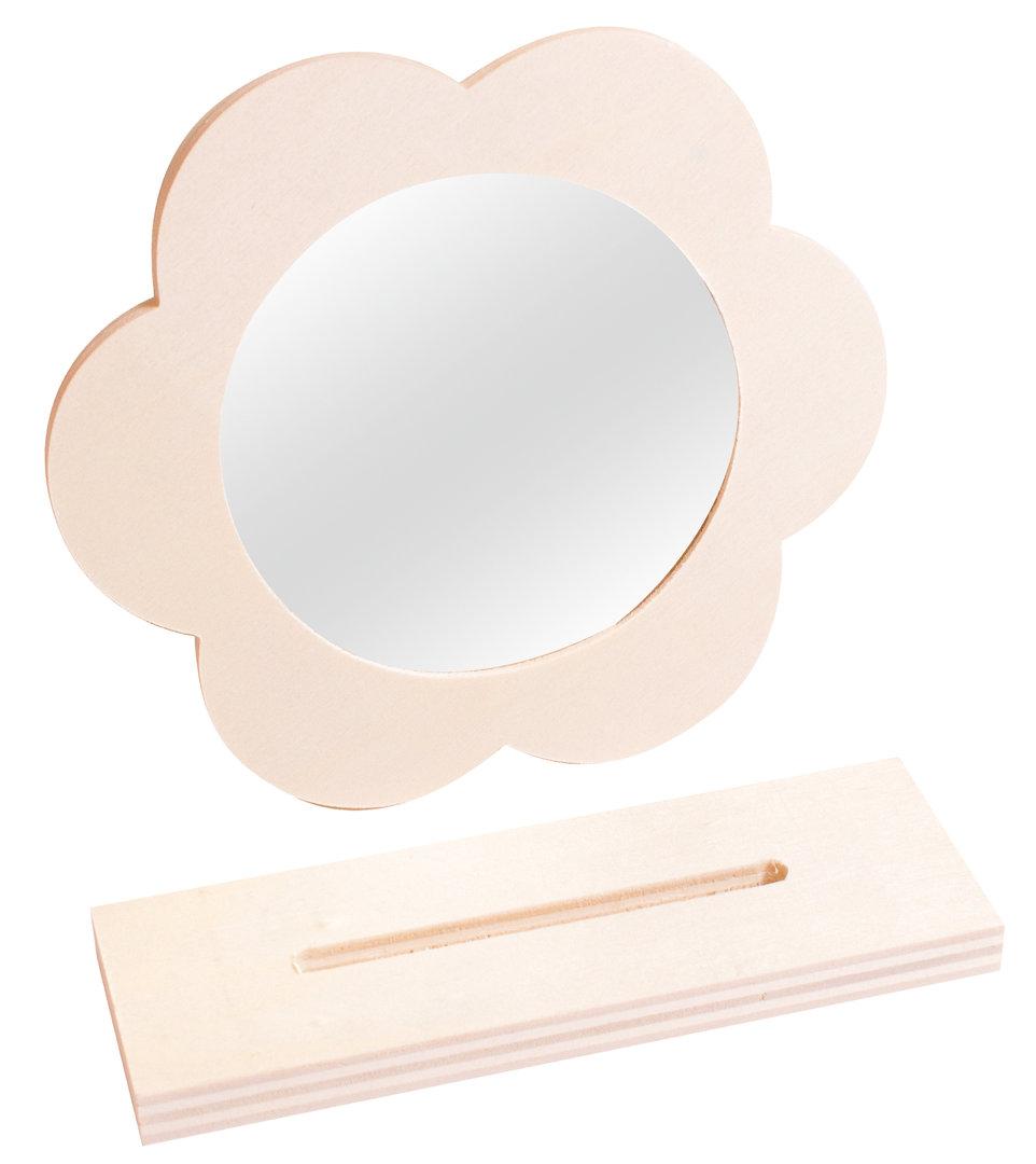blumen spiegel zum gestalten zwergentr ume. Black Bedroom Furniture Sets. Home Design Ideas
