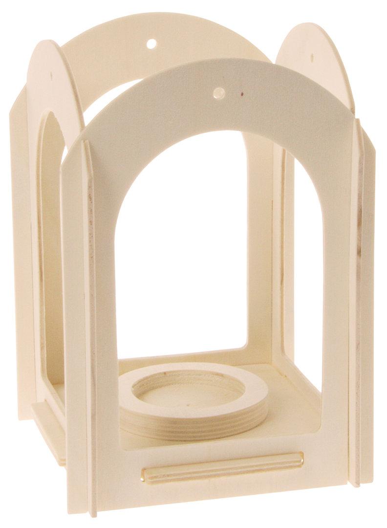 laterne aus holz zum gestalten zwergentr ume. Black Bedroom Furniture Sets. Home Design Ideas