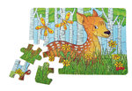 "Holzpuzzle ""Waldtiere"" 24 tlg."